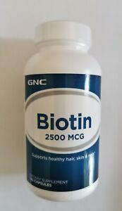 GNC Biotin 2500 MCG 120 Capsules EX: 04/2022