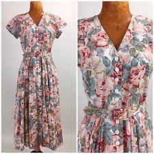 New listing Vintage 80s Floral Dress Renaissance Garden Party Tea Dress Prairie Modest 8 P