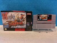 Hook (Super Nintendo Entertainment System, 1991) with Box & Cartridge - Tested