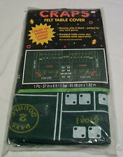 "Amscan Craps Casino Party Felt Table Cover, 37"" x 6' (NIP)"