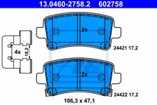 Bremsbelagsatz, Scheibenbremse für Bremsanlage Hinterachse ATE 13.0460-2758.2