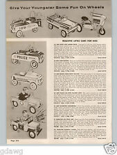 1958 PAPER AD AMF Hamilton Pedal Car Camp Wagon Highway Patrol Pacesetter Police