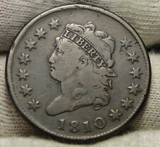 1810 Penny Classic Head Cent - Nice Coin, Free Shipping (7789)