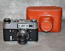 """NEAR EXC! RUSSIAN USSR """"FED 5V"""" film camera + Industar-61 L/D f2.8/55 (ITEM №2)"""