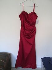 New DaVinci 46446 Claret Red Prom Bridesmaids Formal Gown Long Dress Size 16