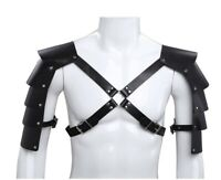 Men Vintage Gothic Warriors Knights Shoulder Harness Medieval Armor Cosplay