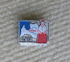 pin badge Riga with map Latvia CCCP USSR insigne Latvija LPSR