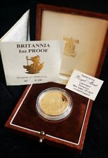 More details for 1 oz proof gold britannia coin with certificate of authenticity