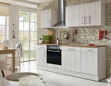 Küche Küchenzeile Küchenblock Landhausküche Einbauküche 220 cm weiß respekta