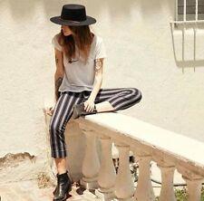 Last One! brandy melville high rize black/white striped tilden elasticize pants