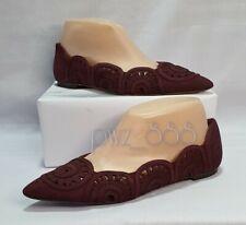 TORY BURCH Cut-out Suede Dollshoes Flats Shoes Size 7 1/2M