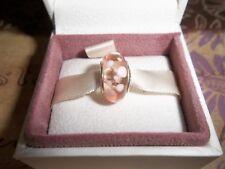 Genuine Authentic Pandora Silver Murano Glass Charm Pink Bubbles - 790694