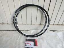 TWO   DT SWISS  29er 411 DB DISC BRAKE RIMS 24 HOLE OFF ROAD RACING ASYMMETRIC