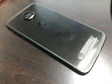 Motorola Moto Z2 Force XT1789  (Sprint) Eagle Black Smartphone  7/10 burn image