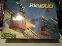 Rigi Duo Working Electric G scale cable car set with custom illuminated cabins.
