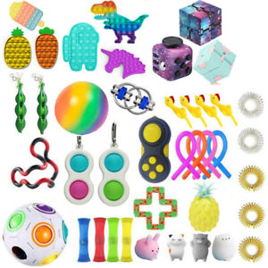 Kids Adults Fidget Toys Set Pack Stress Relief Sensory Tools Bundle Hand Toys