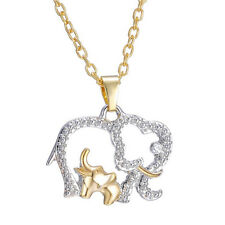 Cute Chain Rhinestone Elephant Pendant Animal Necklace Fashion Jewelry For Gift
