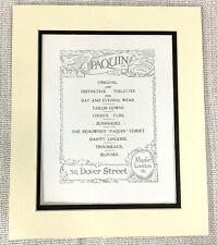 1914 Antique Print Paquin Ltd Old Advert Ladies Fashion court dressmakers London