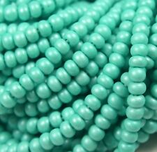 """Czech Glass Seed Beads Size 6/0 """" TERRA TURQUOISE GREEN """" Strands"""