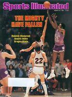 1981 Sports Illustrated KANSAS State vs Oregon State ROLANDO BLACKMAN Free Ship