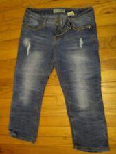 PreOwned – Paris Blues Distressed Capri Stretch Jeans – 9
