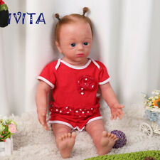 """Reborn Doll 22"""" Newborn Silicone Root Hair Baby Girl With Skeleton Toy Xmas Gift"""