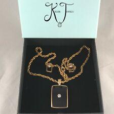 Handmade Gold, Zircon Diamond Perspex Necklace & Earring Set by Killer Jewels