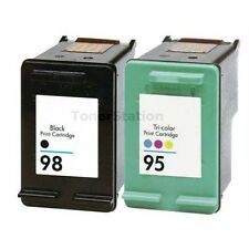 2 Ink Cartridges for HP 98 95 HP Photosmart 2570 8030 C4180 D5160 Officejet 6310