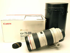 Canon EOS EF 70-200mm 1:2,8 L USM Lens. Made By Hand In 1995. Clean. Box & Case.
