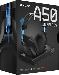 ASTRO Gaming A50 Wireless Dolby Gaming Headset (Black/Blue) PS4 + PC - UD-2