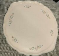 "Handled Pfaltzgraff ""Remembrance"" Cake Plate 13""  Floral Design Nice Plate"