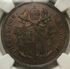 1848 R III Italy Papal States 2 Baiocchi - Pius IX - NGC MS62 BN