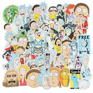 60pcs Rick and Morty Pickle Stickers Laptop Phone Decal Car Vinyl Meme Funny UK