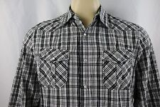 GUESS Western Pearl Snap Men's Long Sleeve Casual Shirt Size L