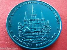 1981 ST. LOUIS CATHEDRAL+JACKSON SQUARE Silver on Blue Dual Mardi Gras Doubloon