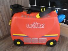 TRUNKI FRANK FIRE ENGINE  RIDE ON SUITECASE LUGGAGE CASE - FAST/FREE POSTING.