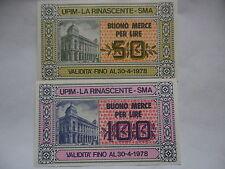 serie buoni d'acquisto 50 e 100 lire 1978 UPIM la rinascente