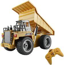 fisca RC Truck 6 Ch 2.4G Alloy Remote Control Dump Truck 4 Wheel Driver Mine Con