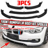 Front Bumper Lip Body Kit Spoiler For BMW 3 Series F30 F35 2013-2019 Base Model