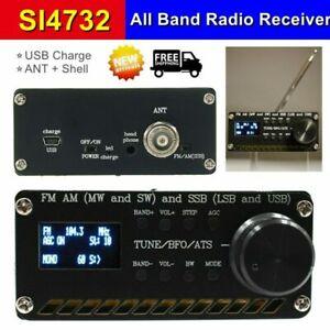SI4732 All Band Radio Receiver FM AM MW & SW SSB ANT Battery Shell USB charging