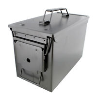 Ammo Case – Military & Army Solid Steel Holder Box for Long-Term Ammo Storage
