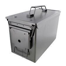 50 Cal Ammo Storage Ammo Holder 1-Pack in Black – Metal Ammo Box Gun Ammo Box