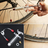 MTB Bike Bicycle Sealant Injector Tubeless Tyre Tire Cycling Kit Puncture Repair