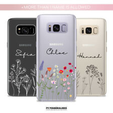 PERSONALISED SOFT CASE COVER NAME SILICONE FOR SAMSUNG GALAXY S8 S9 S10 S10+