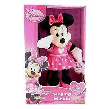 "Fisher Price Disney 11"" Singing Minnie Bowtique Plush Age 2+ NIB"