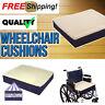 "Fleece Wheelchair Cushion Covered Essential Medical Supply Foam Comfort 18""x 16"""