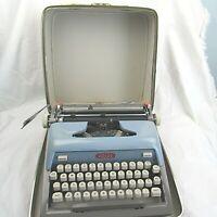 Vintage 1950s/1960s Royal Futura 800 Portable Blue Typewriter with Hard Case