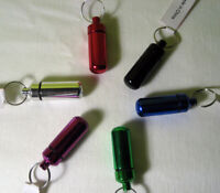 6 Geocache Geocaching Micro Cache Logs Containers Bison Id Pill Holder Tubes Fun