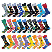 Mens Cotton Socks Funny Animal Aliens Novelty Dress Crew Socks For Wedding Gifts