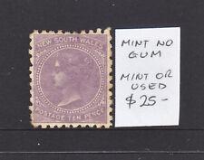 Nsw 10d Purple Qv Mint No Gum
